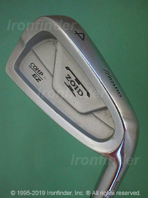 Back side of Mizuno T-Zoid Comp EZ Irons head - the primary means to identify a club