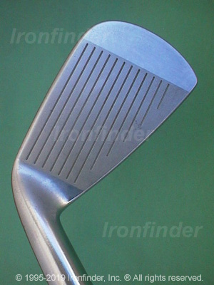 Face side of Mizuno T-Zoid Comp EZ Irons head