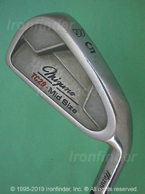 Back side of Mizuno TC29 - Mid Size Irons head - the 
