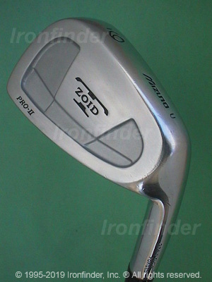 Back side of Mizuno T Zoid Pro-II Irons head - the 
