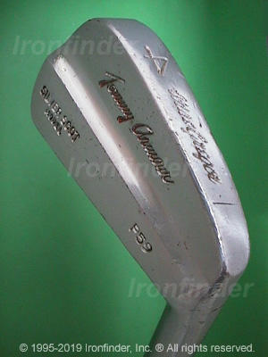 Back side of MacGregor SILVER SCOT MODEL P59 Irons head - the primary means to identify a club