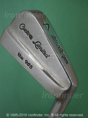 Back side of MacGregor the 985 Custom Limited Irons head - the 