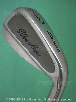 Back side of Mizuno Silver Cup (cavity) Irons head - the primary means to identify a club