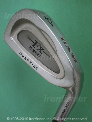 Back side of RAM FX Ti-SERT Oversize Irons head - the 
