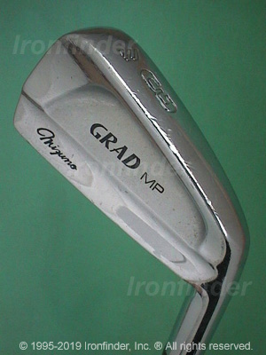 Back side of Mizuno Grad MP Irons head - the 