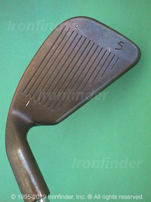 Face side of Ping ISI BeCu Irons head