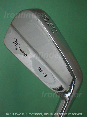 Back side of Mizuno MP-9 Irons head - the primary means to identify a club