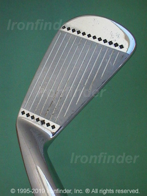 Face side of Cleveland Tour Action 588 (high polish) Irons head