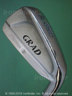 Back side of Mizuno Grad P-Forged Irons head - the 