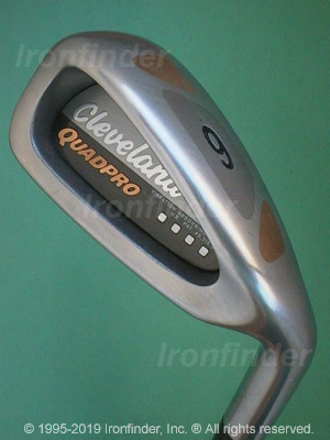 Back side of Cleveland Quad Pro Irons head - the primary means to identify a club