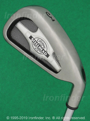 Back side of Callaway SteelHead X-14 Pro Series Irons head - the primary means to identify a club