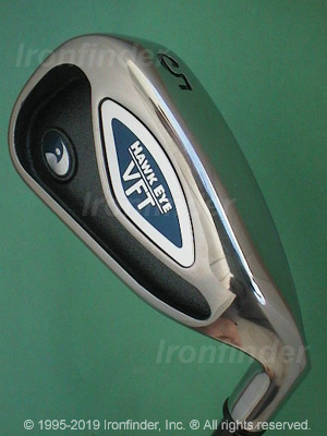 Back side of Callaway Hawk Eye VFT Irons head - the 