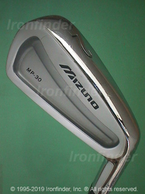 Back side of Mizuno MP-30 Irons head - the 